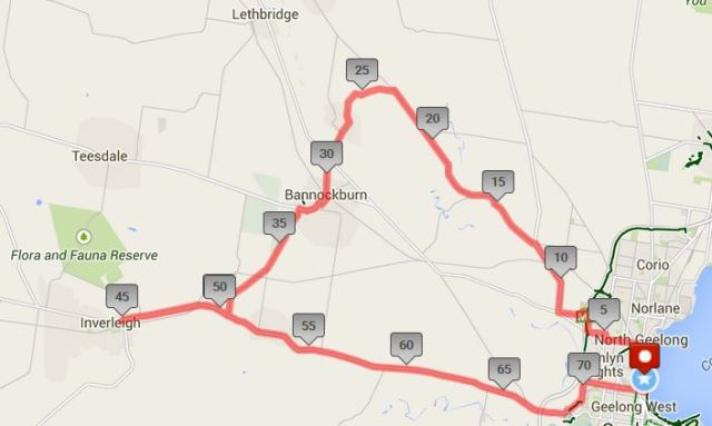 150305 easter day ride map inverleigh