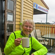 Helen - coffee's the reason we ride!