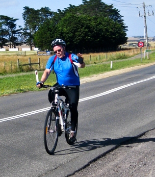 Champion Michael has just conquered Barrabool Road