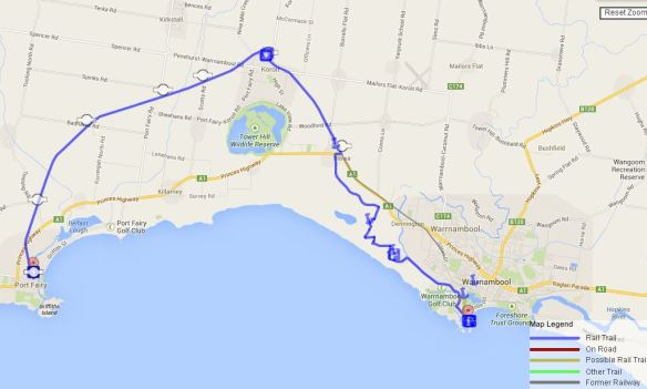 port fairy rail trail map