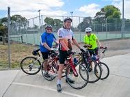 Mike, David and Helen, Ted Wilson Trail near Creamery Road