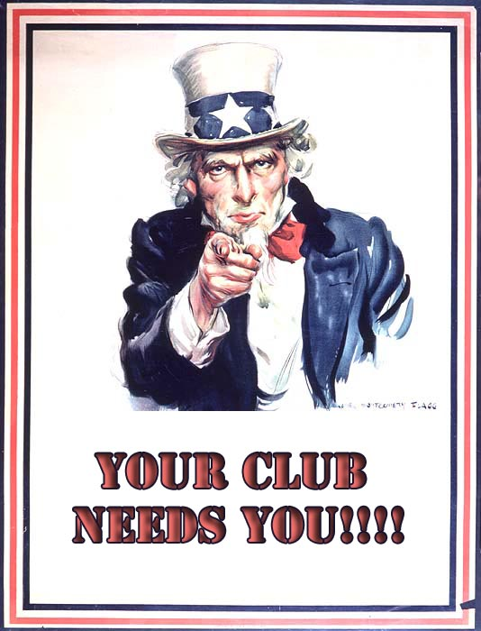 uncle sam poster - your club needs you