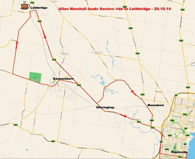 Map to Lethbridge