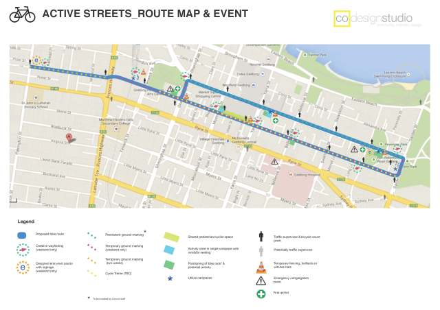Active Streets Route map only