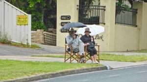 David & Nancy in the rainweb