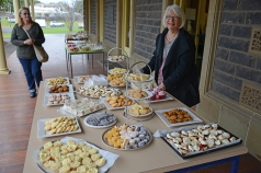 Nancy Jones, of Cycling Geelong, organised a feast for afternoon tea.