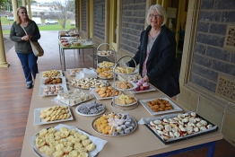 Nancy Jones, of Cycling Geelong, organised a feast for afternoon tea.