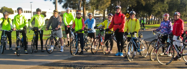 A recent Cycling Geelong ride to Barwon Heads.