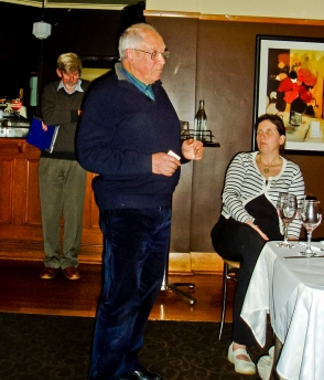 Life member Rod Charles thanks the outgoing committee on behalf of all members.