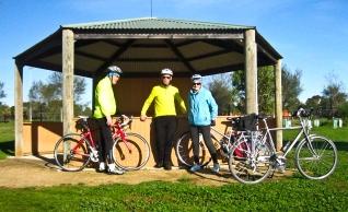 David, Shane & Tricia, Picnic rotunda, Limeburner's Lagoon.