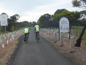Start of Curlewis section of the Bellarine Rail Trail