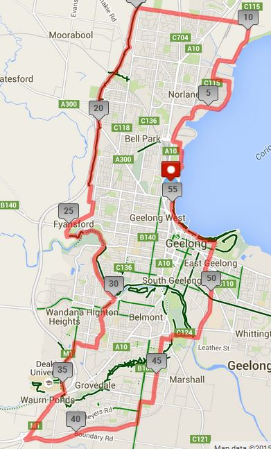 151004 little geelong tour route