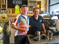 Kelly with his barista mate