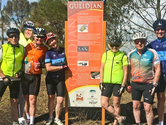 Neville, David, Karen, Helen, Allan (ride Leader), Russell