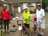 Sandra, Helen and Rod - small wheels were in the majority on this ride
