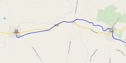 Map of the trail from Skipton to Linton
