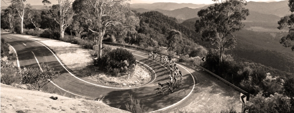 vic alps cycling B&W