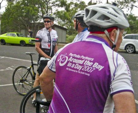 Neil and Richard (with Allan's ATB jersey featuring)