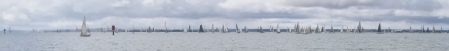 160124 yachts stream into Corio Bay