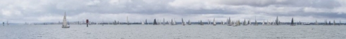 160124 yachts stream into Corio Bay