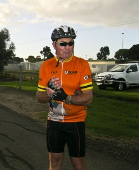 Kelly - after a warm up ride from Corio