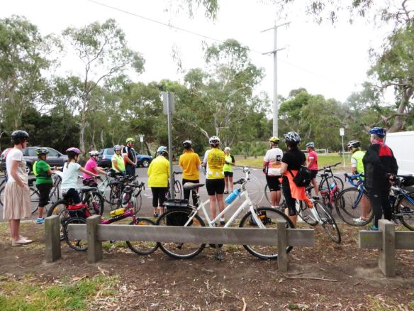 Women assemble at Balyang Sanctuary for International Women's Day rides