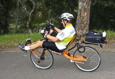 Doug on the Cruze Bike