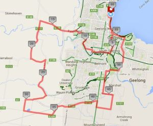 "Route of the slow ""Not the Joint Ride"" circuit."