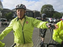 Rod explains the historic significance of riding to Lara (Duck Ponds)