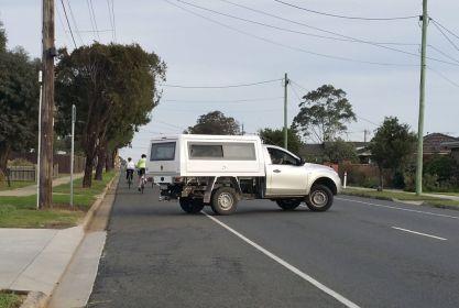 Impatient driver in Heyers Road