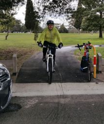Dave Simpson, of Cycling Geelong is already a frequent path user