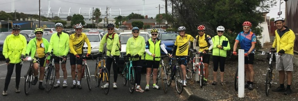 The group at South Geelong Station