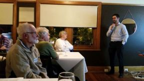 Luke Sherwell talked about cycling infrastructure for Geelong