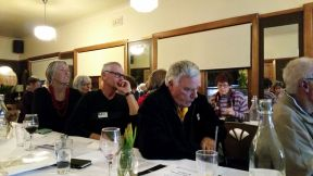 Around 30 people attended the dinner meeting