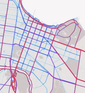 Geelong CBD cycling data 2015*