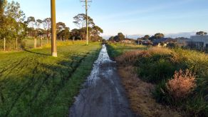 Water pooling over path