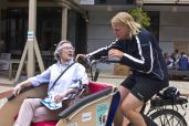 Slow speed allows participants to chat as they cycle*