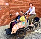 Tina takes her mum and Rosemary for a spin.