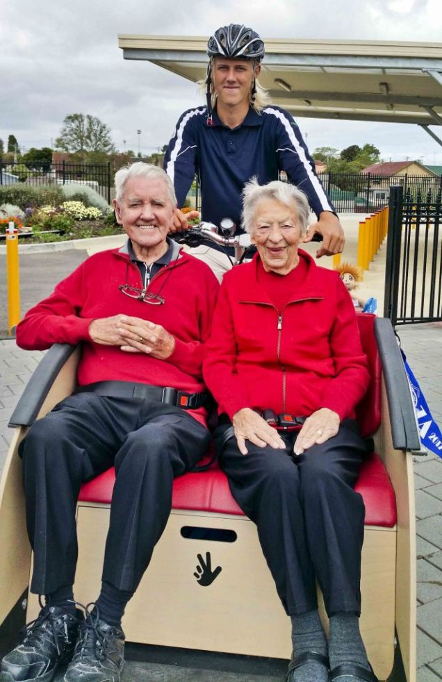 this resident couple are in their 90s, have been married for 72 years, and have 8 children