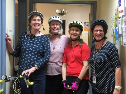 Cycling Geelong's riders at Barwon Health on Ride to Work Day