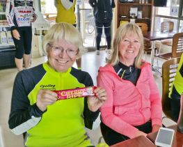 Helen & Margy with 'energy' bar