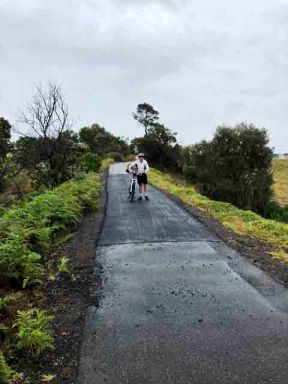 Repaired path near Curlewis