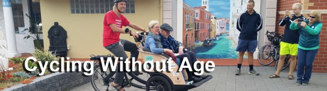 Cycling Without Age- Cycling Geelong acknowledges the support from Geelong ConnectedCommunities