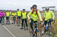 The group at beginning of Black Rock Bike Path