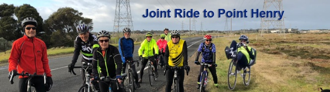 Point Henry and Moorabool Valley Chocolate – Joint Ride with GTC:  Sunday 8th July, 2018