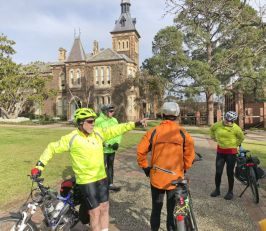 Doug talks to the group at Geelong College