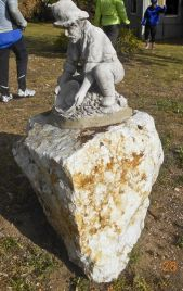 Statue at Love Cottage