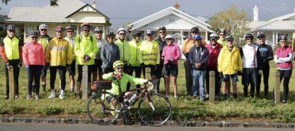 On Ya Bike! riders at Rippleside