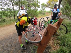 John M fixes a puncture-resized