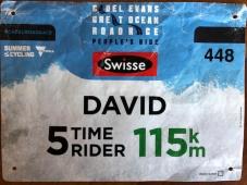 David's ride bib